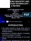 banking industry and information technology