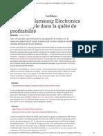 Comment Samsung Electronics double Apple dans la quête de profitabilité
