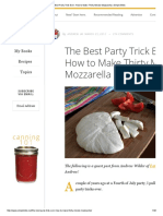 The Best Party Trick Ever_ How to Make Thirty Minute Mozzarella _ Simple Bites