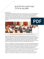 Alleged Killing of 18 Navy and 8 Army Prisoners by LTTE in Jan 2009