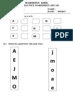 September Worksheet Prep-II