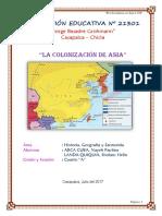 Monografia Colonizacion de Asia