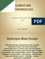 Mikrobiologi Silabus AKBID 2010
