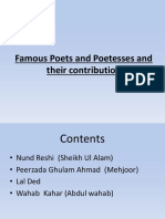 Famous Poets and Poetesses and Their Contribution