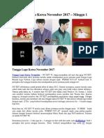 Tangga Lagu Korea November 2017 – Minggu 1