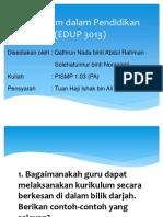 EDUP 3013 - Bab 5 - Kurikulum dalam Pendidikan.pptx