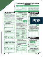 Cuestionario Censo 2017 Transito