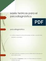Bases Teóricas Para El Psicodiagnóstico