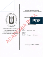 Tercer Examen Parcial 2016-I Unprg
