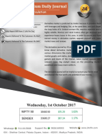 Derivative Premium Daily Journal-1st Nov 2017, Wednesday