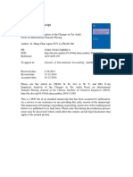 An Empirical Analysis of the Changes in Tax Audit