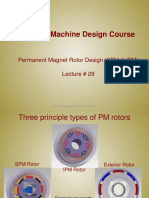 Lecture29 - Permanent Magnet Rotor Design (SPM & IPM)