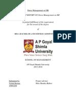 Vishal Stress Management on Hr