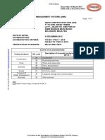 NIOSH Certification Sdn. Bhd. QMS 17
