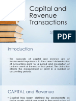 Capital and Revenue Transactions