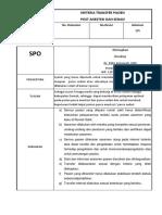 Kriteria Transfer Pasien Post Op