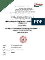 Dosificación y Distribución de Contenidos para la Asignatura de Informática