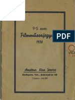Amateur Kino Service Műsorjegyzéke 1938