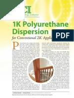 1K Polyurethane Dispersion for Conventional 2K - Lubrizol