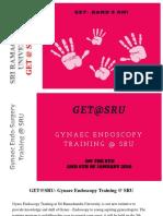 Gynaec Endo-Surgery Training GET @ SRU 2018