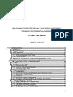 e Pre-Feasibility Study