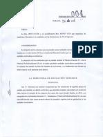 Disposicion 004-16 DES