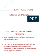 Other Bank Functions
