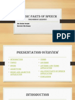 4 basic parts of speech