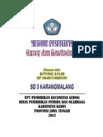 Makalah Metode Survey Dan Korelasi Sutiyono 2013