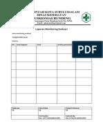 Form Monitoring Evaluasi