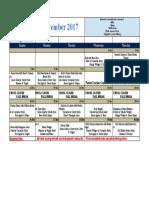 ES Dining Hall Menu November,2017 - Sheet1