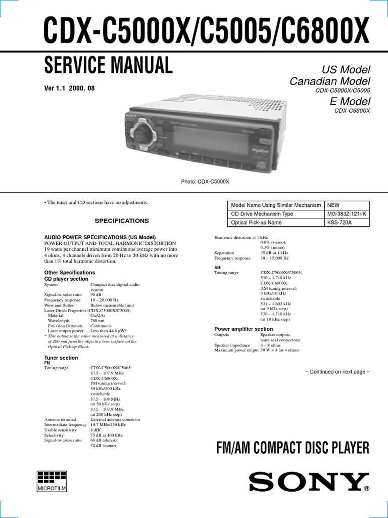 Astonishing Sony Cdx Gt100 Wiring Harness Diagram Basic Electronics Wiring Diagram Wiring Digital Resources Dadeaprontobusorg