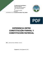 Diferencia Constitucion Formal y Material