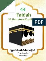 eBook 44 Faidah Dzulhijjah in Ar