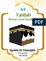 eBook 44 Faidah Dzulhijjah in Ar
