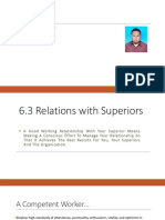 Chapter 6.3 Relations With Superior