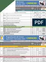 Programacion Caracas SEP-NOV 2017 R2