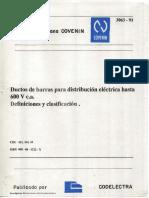 Ductos de Barras Para Distribucion Electrica Hasta 600 v c.a. Definiciones y Clasificacion 3063-93