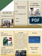 Folder Seminário Saúde