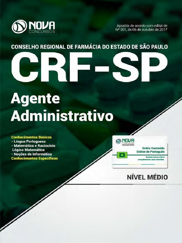 f6ce799b83 Ot030-17 - Crf-sp - Agente Administrativo