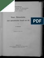 Schwartz, Neue Aktenstücke Zum Ephesinischen Konzil Von 431