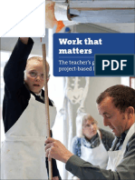 Work That Matters Teachers Guide to Project Based Learning