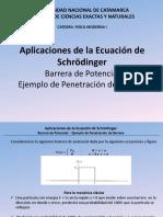 Seminario Aplicacion Schrondiger-barrera de Potencial-penetracion Barrera