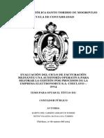 Evaluacion de Ciclo de Facturacion Mediante Auditoria Operativa