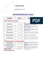 Fármacos Antidepresivos II 2015.xls