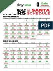 2017 Santa Schedule