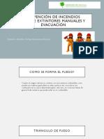 prevención de incendios , uso de extintores manuales