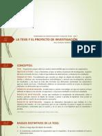 02_La Tesis y El Proyecto de Investigación