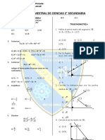 EXAMEN BIMESTRAL DE CIENCIAS 2° secunadria