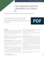 Programa de Tamizaje Auditivo Neonatal Universal en Clínica Las Condes